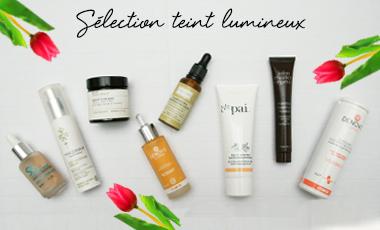 Maquillage bio sélection teint lumineux